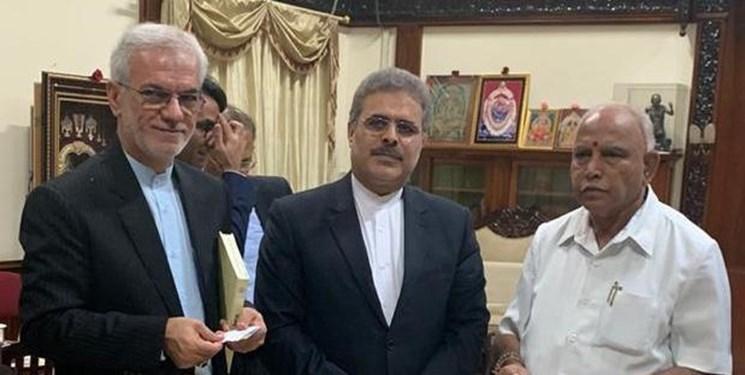 دیدار سفیر ایران با سروزیر ایالت کارناتاکا هند