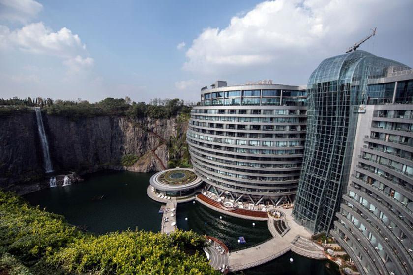اولین هتل زیر زمینی جهان در چین افتتاح شد