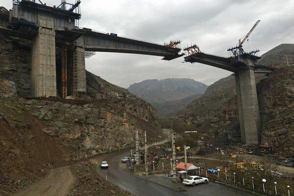 افتتاح یک باند منطقه 2 آزادراه تهران-شمال در بهار 1400
