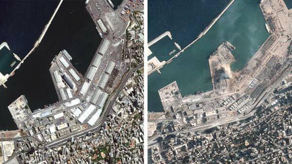 انتشار تصاویر انفجار بیروت از فضا