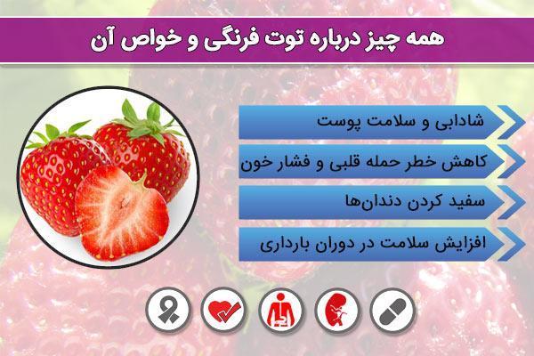 خواص توت فرنگی به عنوان یک داروی طبیعی