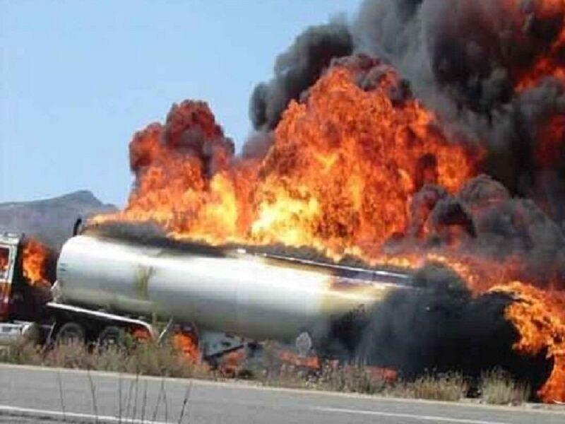 انفجار مرگبار تانکر سوخت در محور سنندج- سروآباد