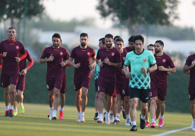 تمرین شاداب و تحت فشار بازیکنان پرسپولیس در قطر