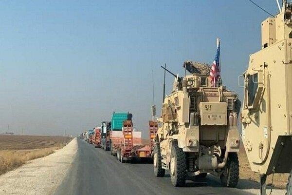 کاروان نظامی ارتش اشغالگر آمریکا وارد خاک سوریه شد