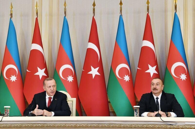 خبرنگاران تاکید علی اف و اردوغان بر ایجاد بستر جدید همکاری در منطقه