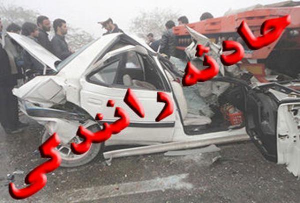 یک کشته و چهار زخمی بر اثر سانحه تصادف در کرمانشاه