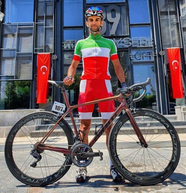 رکابزن المپیکی ایران با دوچرخه تازه به توکیو می رود