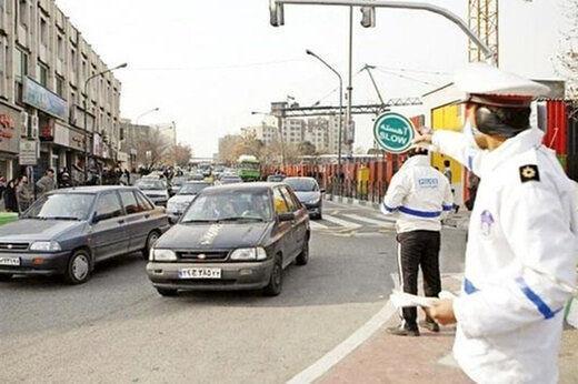 هشدار پلیس درباره تشدید برخورد با خودروهایی که وارد شهرهای نارنجی و قرمز می شوند