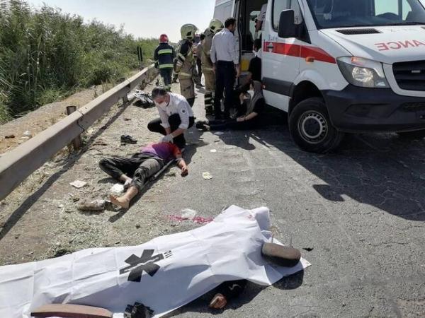 یک کشته و 4 مصدوم در تصادف 207 با کامیونت